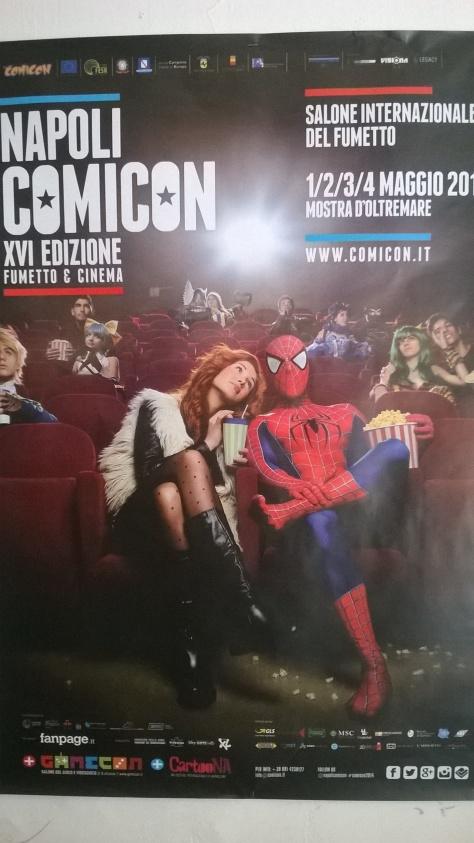La locandina ufficiale del Comicon 2014 - tema fumetti e cinema. Me gusta.