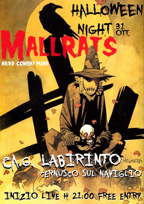 locandina live halloween stampa